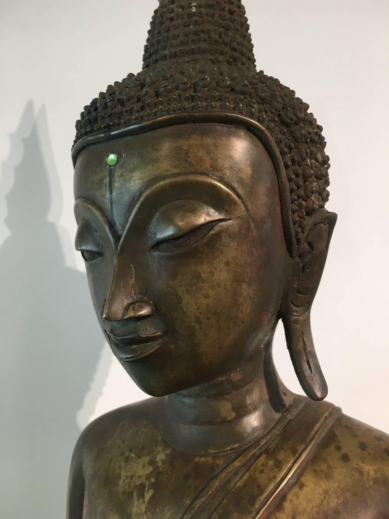 Lao Cast Bronze Shakyamuni Buddha, 17th-18th Century For Sale 2