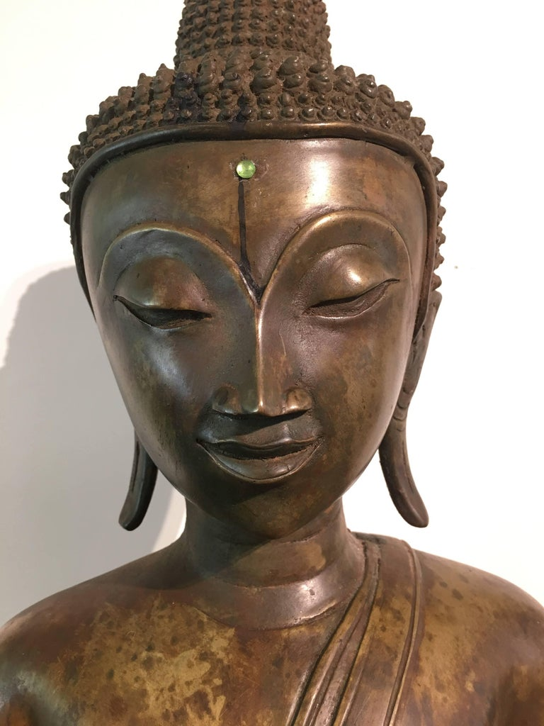 Lao Cast Bronze Shakyamuni Buddha, 17th-18th Century For Sale 3