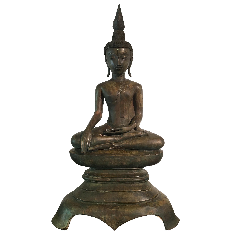 Lao Cast Bronze Shakyamuni Buddha, 17th-18th Century