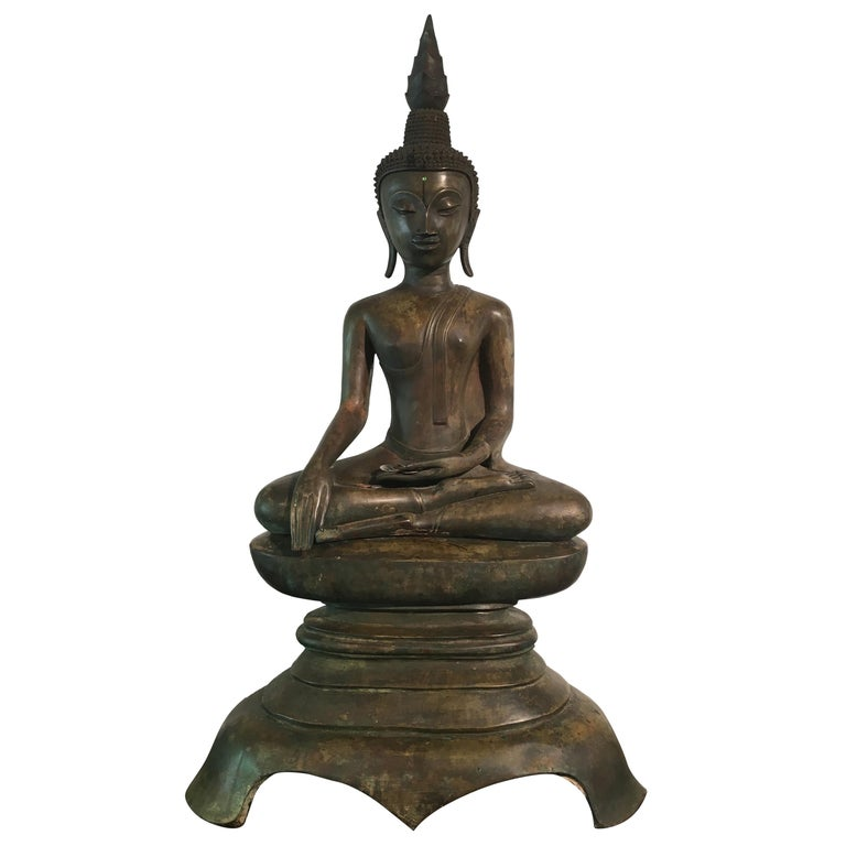 Lao Cast Bronze Shakyamuni Buddha, 17th-18th Century For Sale