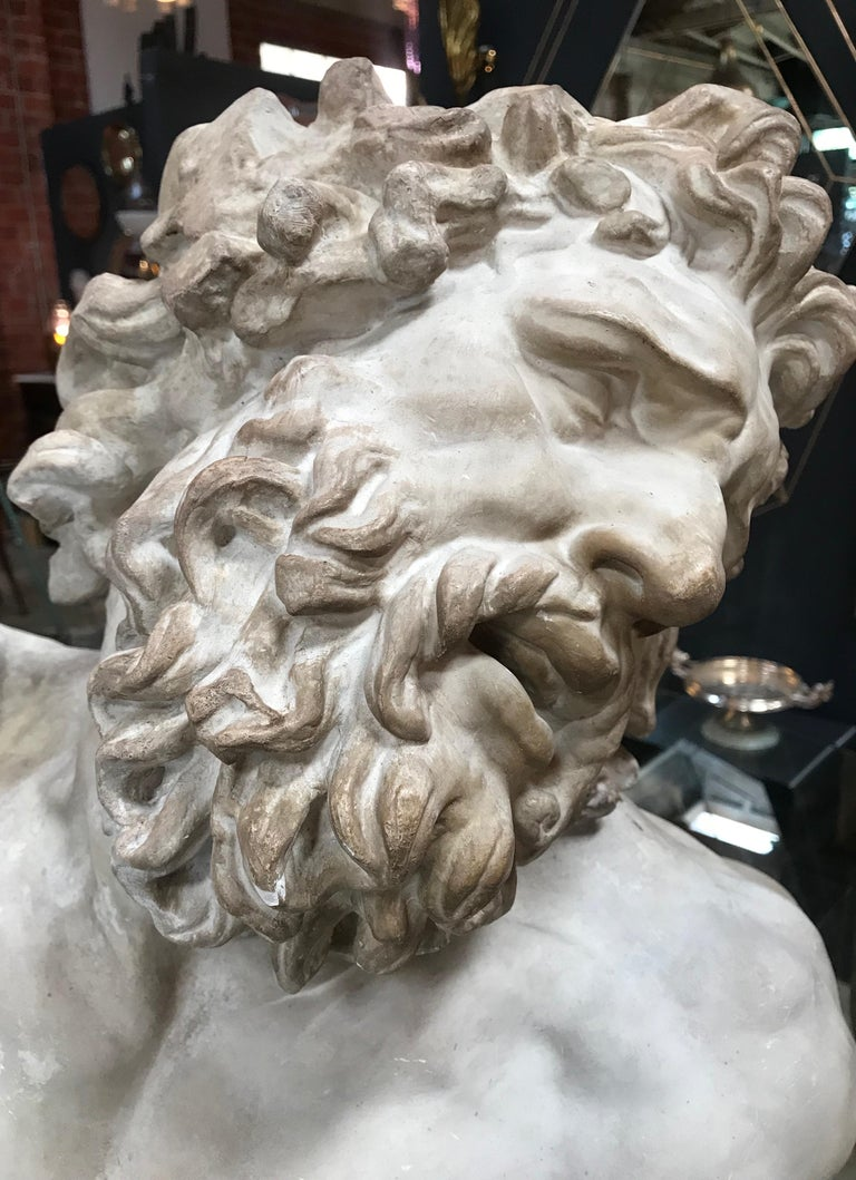 Laocoon, Plaster Bust, Copy in Scale 1/1 For Sale 6