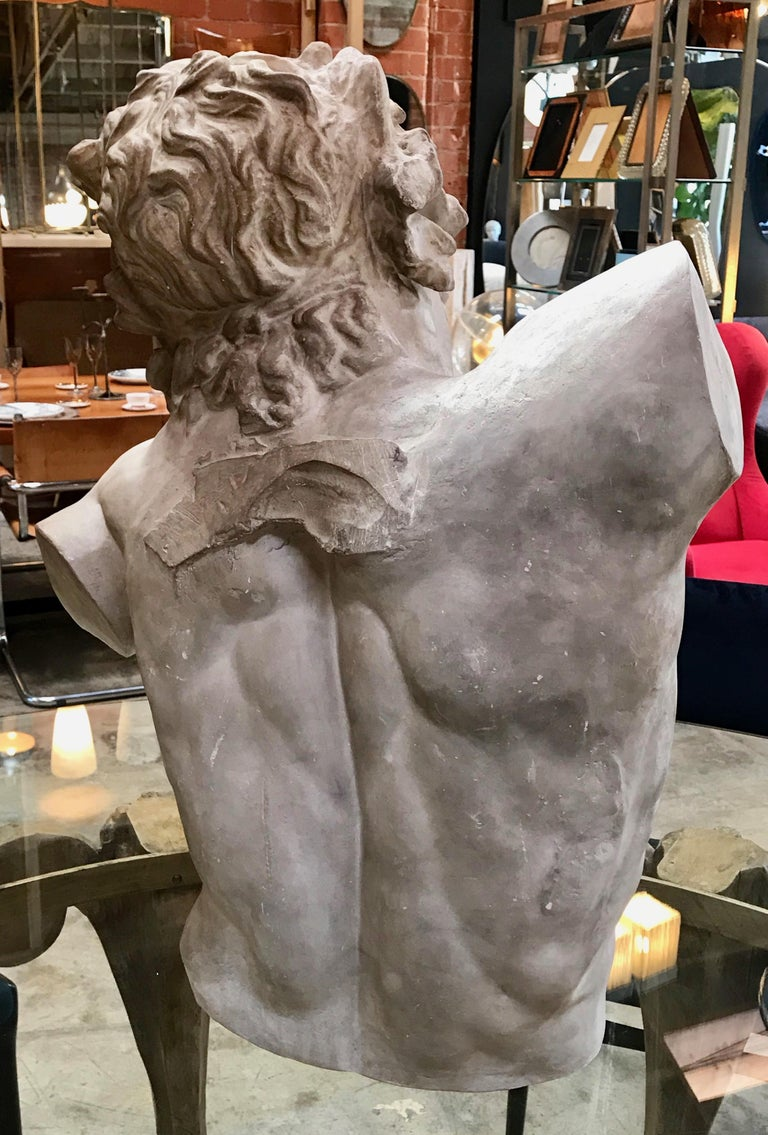Laocoon, Plaster Bust, Copy in Scale 1/1 In Excellent Condition For Sale In Los Angeles, CA