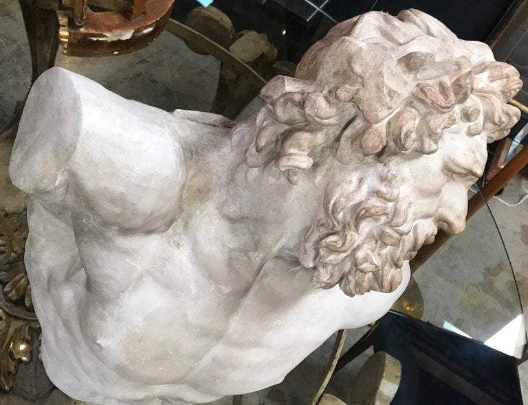 Late 20th Century Laocoon, Plaster Bust, Copy in Scale 1/1 For Sale