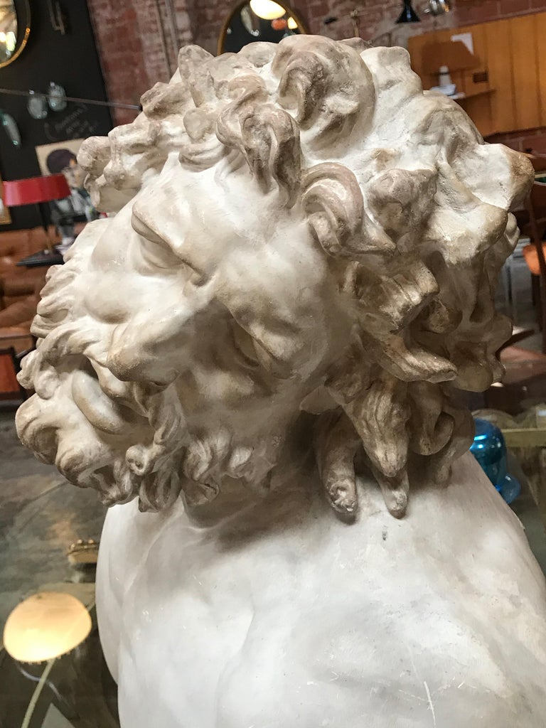 Laocoon, Plaster Bust, Copy in Scale 1/1 For Sale 1
