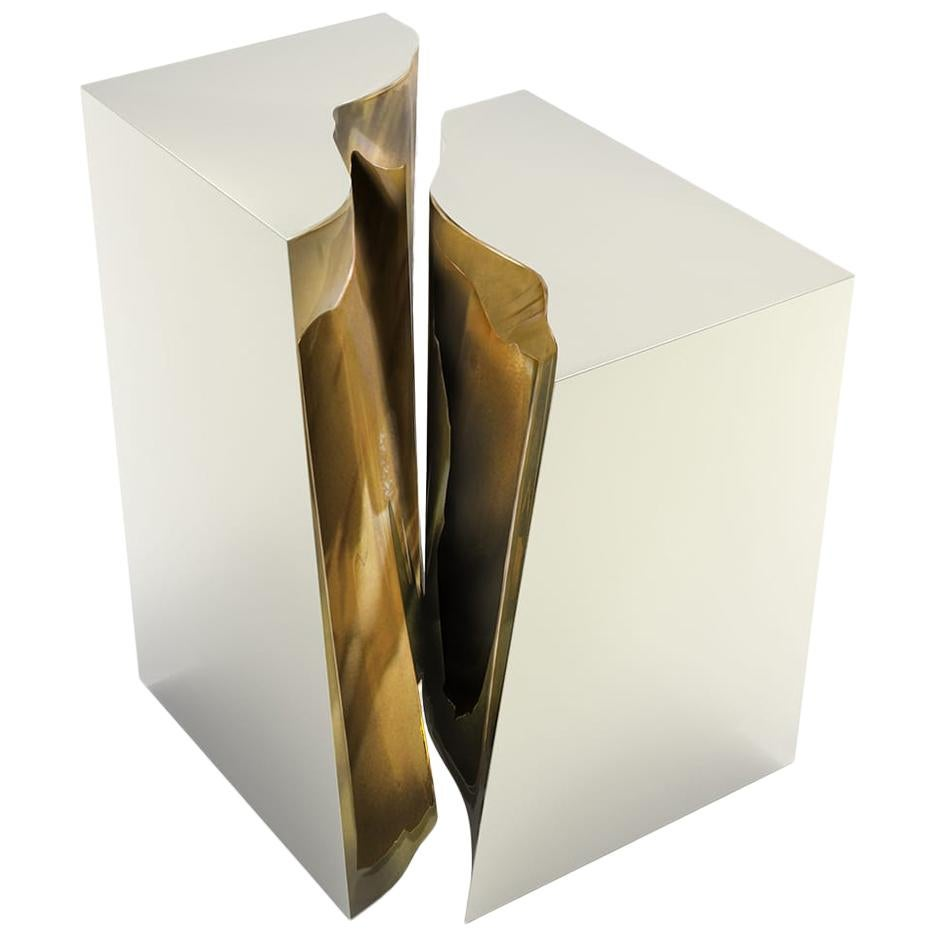 Lapiaz Side Table with Lacquer Finish