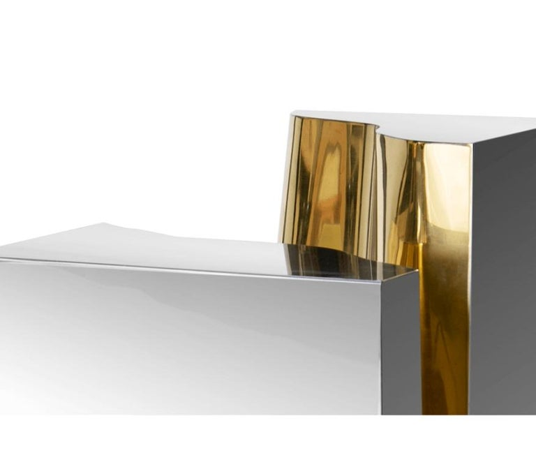 Lapiaz Side Table With a Contemporary Design by Boca do Lobo In New Condition For Sale In New York, NY