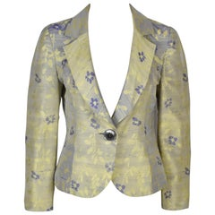 Lapidus Haute Couture Shot Silk Jacket in Yellow and Blue