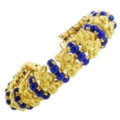 Lapis and 18 Karat Gold Bracelet, circa 1965