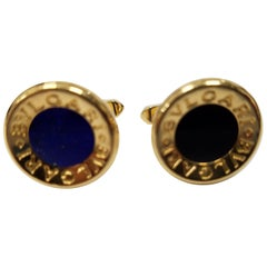 Lapis and Onyx Bvlgari Cufflinks