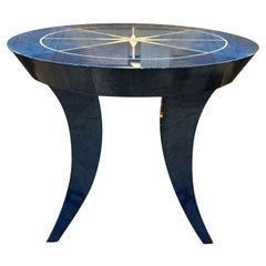 Lapis Blue Round Side Table