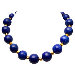 Lapis Lazuli and 18 Karat Gold Necklace by Deborah Lockhart Phillips