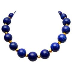 Lapis Lazuli and 18 Karat Gold Necklace by Deborah Lockhart Phillips
