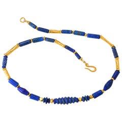 Lapis Lazuli and Gold Vermeil Necklace