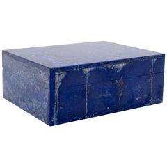 Lapis Lazuli Box with Hinged Lid