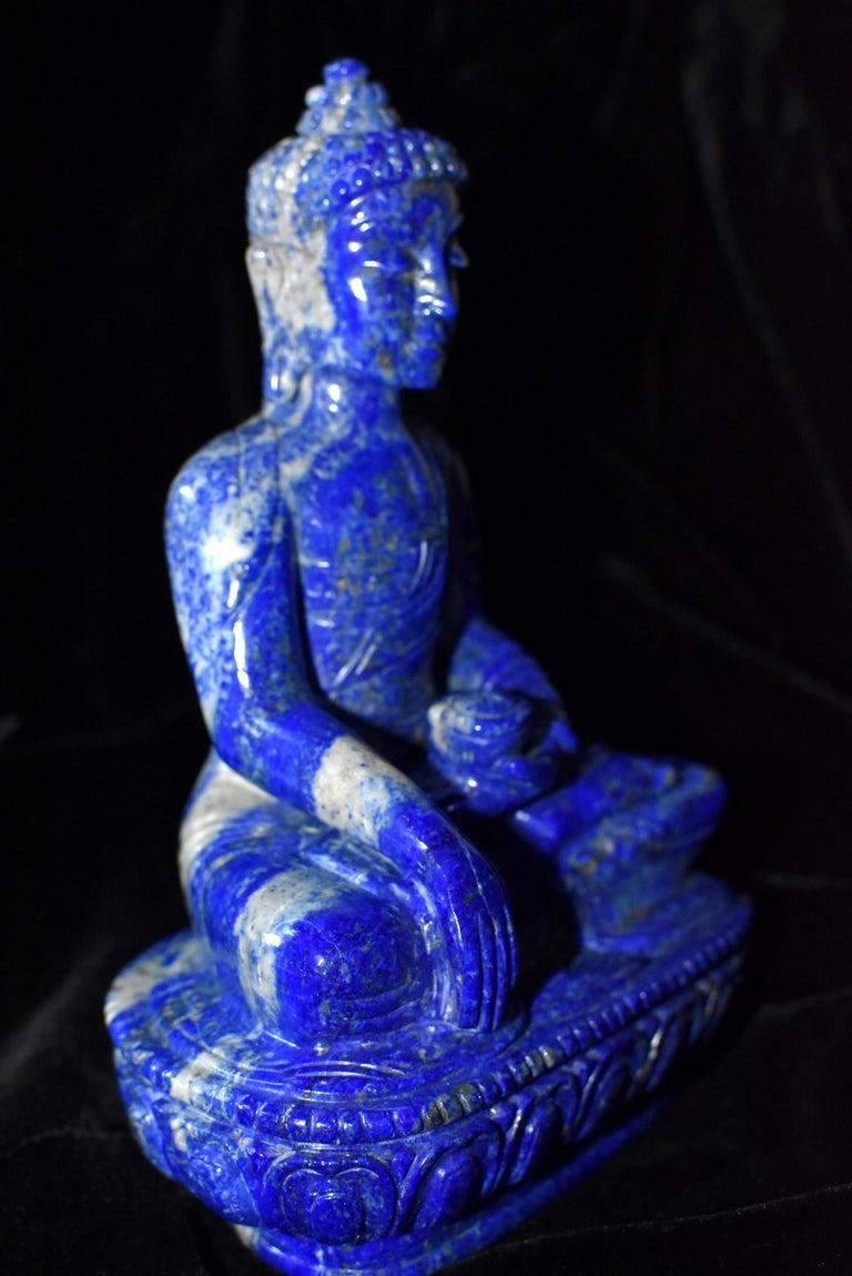 Lapis Lazuli Buddha Statue, 3.4 lb, Finest Grade at 1stDibs