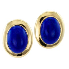 Lapis Lazuli Gold Earrings