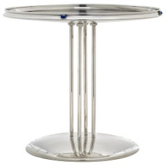 Lapis Lazuli Tall Centerpiece in Solid Silver by Josef Hoffmann