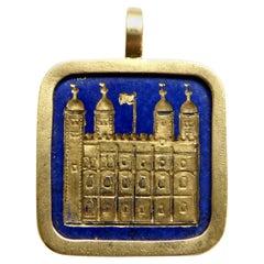 Lapis Lazuli Tower of London Pendant