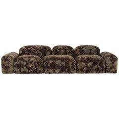 Lapis Sofa in Brown Mold Pattern by Emanuel Gargano & Anton Cristell