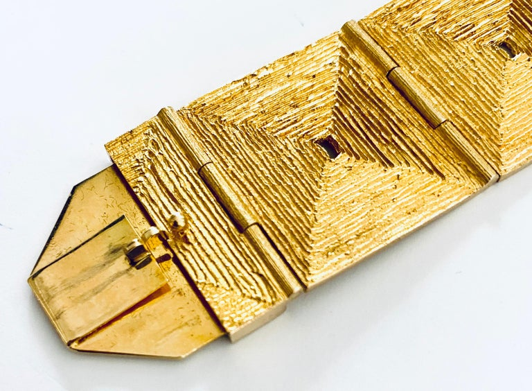 Lapponia, 18 Karat Gold Bracelet, Björn Weckström Design, 1970 In Good Condition For Sale In Heerlen, NL