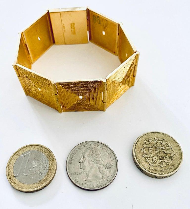 Lapponia, 18 Karat Gold Bracelet, Björn Weckström Design, 1970 For Sale 1
