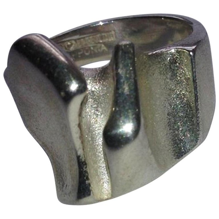 Lapponia Finland Modern Sterling Silver Ring For Sale