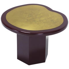 Lacquer and Brass Side Table, 1970s