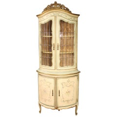 Laquered, Gilded and Painted Venetian Corner Cabinet, 20th Century