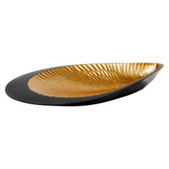 Lacquered Wood and Gold Shell Sculpture, Mussel