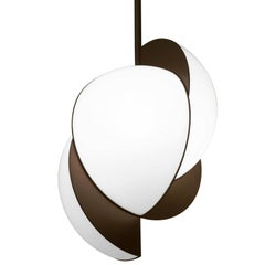 Lara Bohinc, Collision Ceiling Light, Bronze Galvanic with White Acrylic