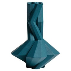 Fortress Cupola Vase in Blue Ceramic, by Lara Bohinc