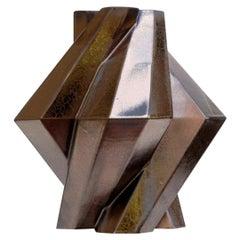 Lara Bohinc, Fortress Pillar Vase, Bronze Ceramic