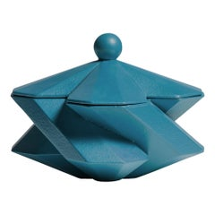 Lara Bohinc, Fortress Treasury Box, Blue Ceramic, in Stock