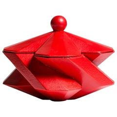 Lara Bohinc, Fortress Treasury Box, Red Ceramic, in Stock