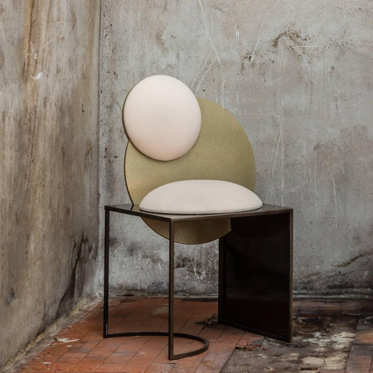 Celeste Chair in White Fabric and Metal, by Lara Bohinc For Sale 7