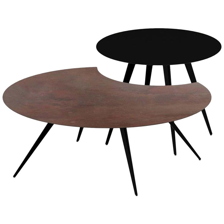 Lara & Dara Low Tables by Ron Arad For Sale