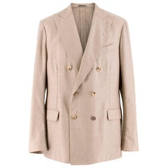 Lardini Beige Cashmere Jacket SIZE IT 54