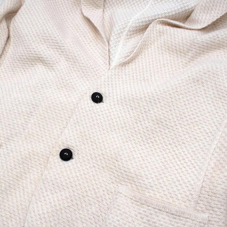 Lardini Ivory Wool & Alpaca Blend Textured Knit Blazer Jacket - Size XL For Sale 1