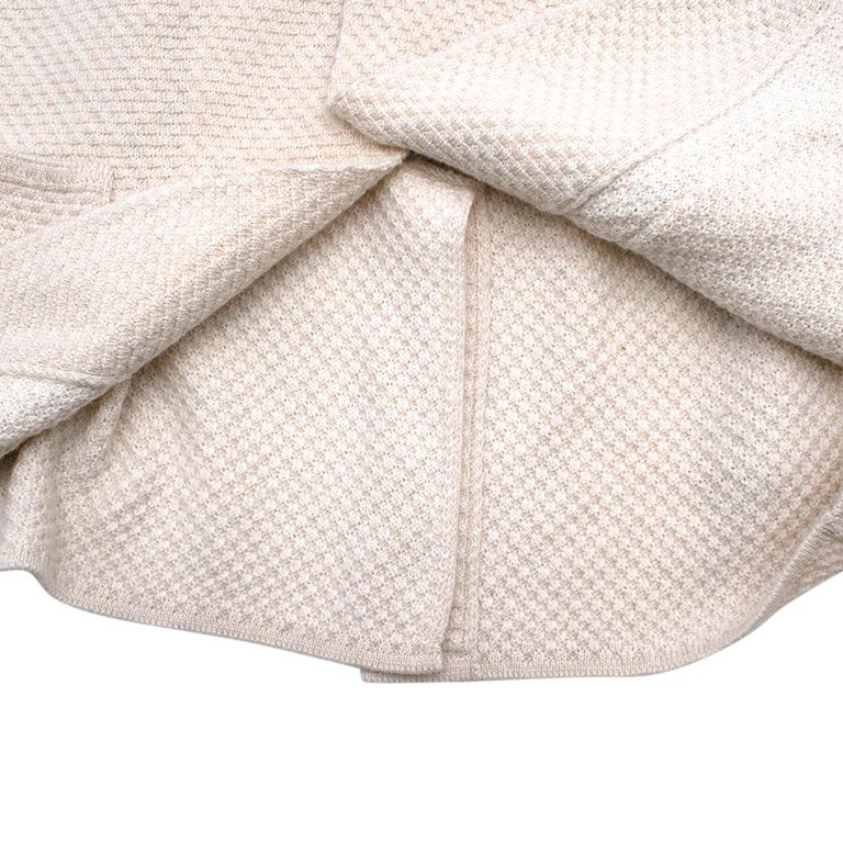 Lardini Ivory Wool & Alpaca Blend Textured Knit Blazer Jacket - Size XL For Sale 2