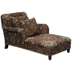 Large Oversized Ralph Lauren Chaise Lounge Sofa Armchair Floral Upholstery