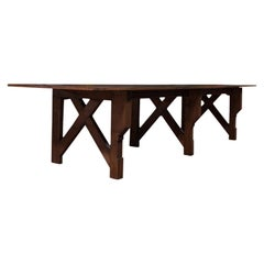 Antique Kitchen Table, English, Pine, Industrial, Victorian, 1900