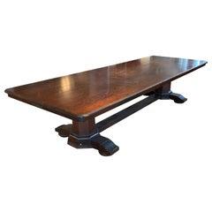Large Double Pedestal Elks Lodge Table, circa 1910