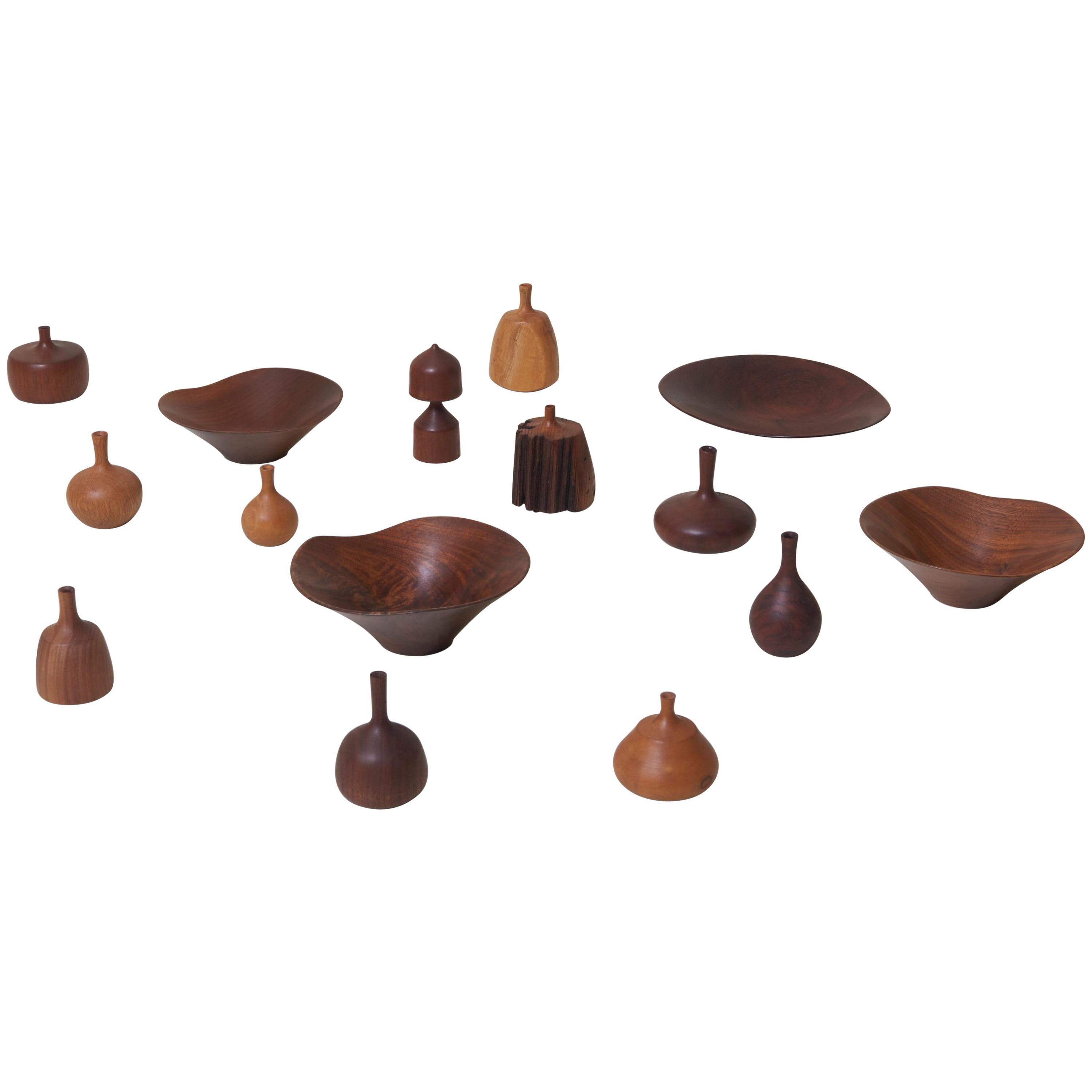 Large 15-Piece Rude Osolnik Turned Wood Collection