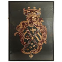 Large 16th Century Italian Coat of Arms Escutcheon