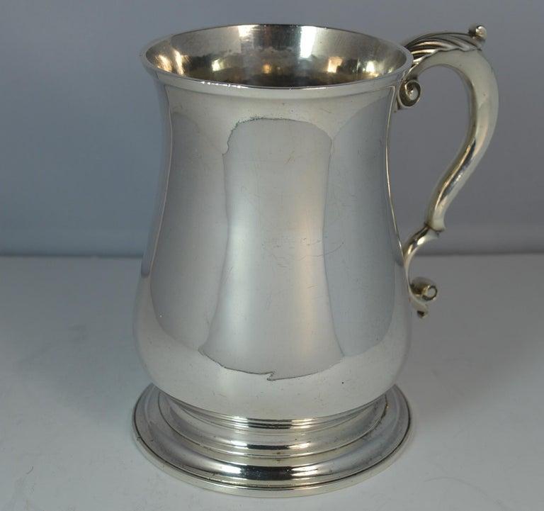 Large 1748 Georgian William Gould Plain Original Tankard Cup 13oz+ For Sale 5