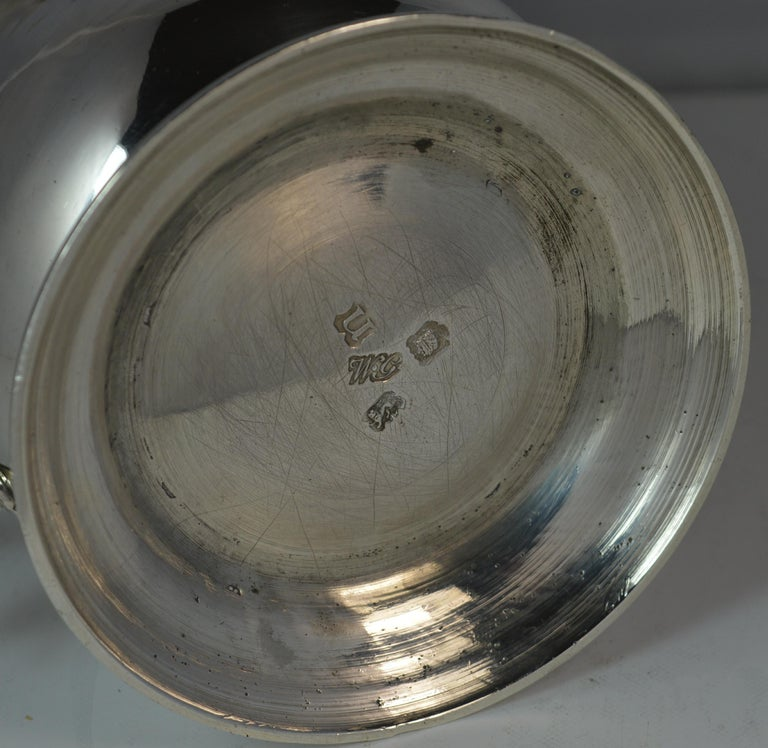 Large 1748 Georgian William Gould Plain Original Tankard Cup 13oz+ For Sale 2