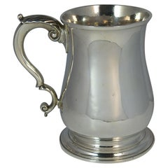 Large 1748 Georgian William Gould Plain Original Tankard Cup 13oz+
