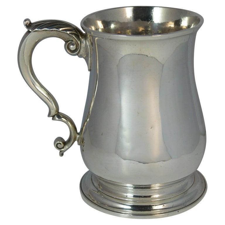 Large 1748 Georgian William Gould Plain Original Tankard Cup 13oz+ For Sale