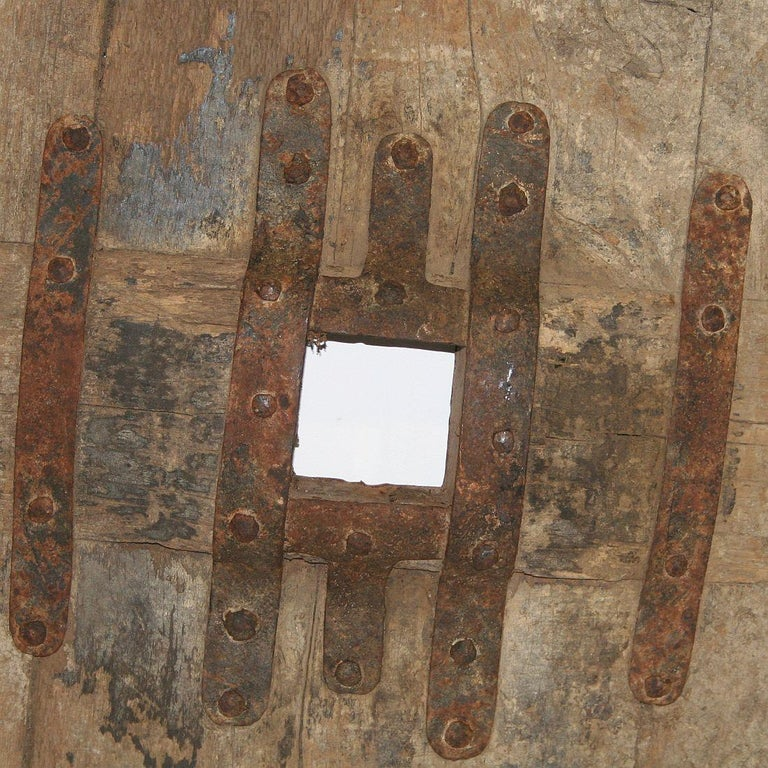 Folk Art Large 17th-18th Century Primitive Spanish Chariot Wheel For Sale