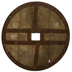 Large 17th-18th Century Primitive Spanish Chariot Wheel